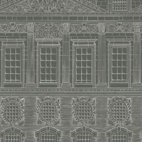 Cole & Son Wren Architecture Chalk-Charcoal 118-15034