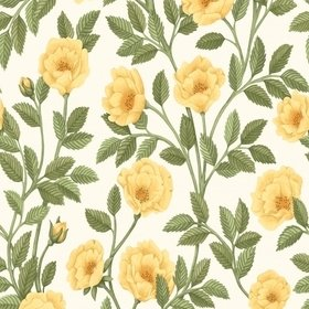 Cole & Son Hampton Roses Marigold-Olive Green-White 118-7015