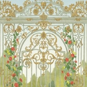 Cole & Son Tijou Gate Spring Green-Soft Olive-Rouge 118-8017