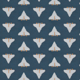 Harlequin Space Shuttle Apricot-Navy 133547