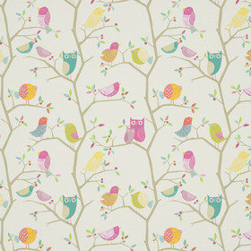 Harlequin What A Hoot Pink-Aquamarine-Lime-Natural 120955