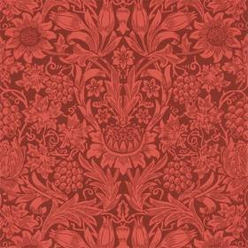 Ben Pentreath For Morris & Co Sunflower Chocolate-Red 216960