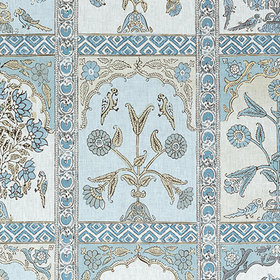 Thibaut Indian Panel Spa Blue F910633
