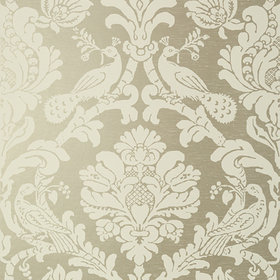 Thibaut Passaro Damask Cream-Metallic Pewter T89136