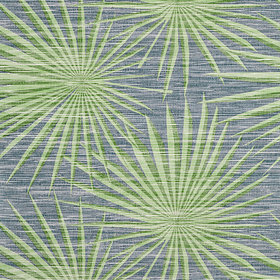 Thibaut Palm Frond Navy-Green T10141