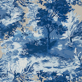 Thibaut Lincoln Toile Blue-Flax T10864