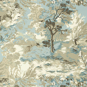 Thibaut Lincoln Toile Beige-Spa Blue T10865
