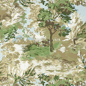 Thibaut Lincoln Toile Green-Beige T10866