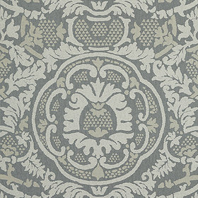 Thibaut Earl Damask Charcoal T10840