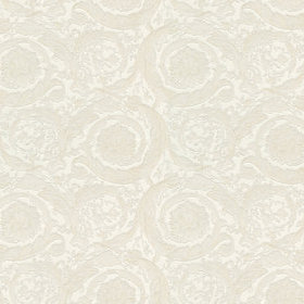 Versace Barocco Scroll Flowers Pearl White 93583-2
