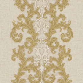 Versace Baroque & Roll Panel Natural-Gold 96232-3