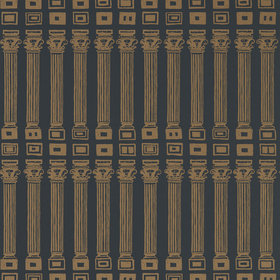 Zoffany Columns Vine Black-Antique Gold 312969