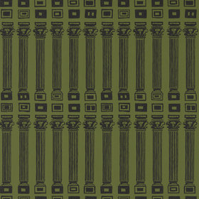 Zoffany Columns Olive-Bone Black 312970