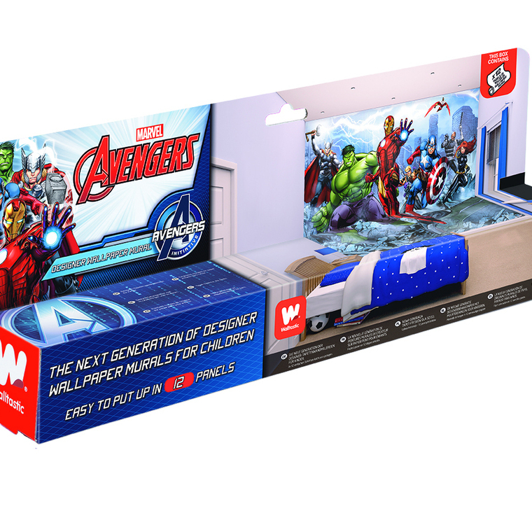 Avengers assemble mural 43848 walltastic 12 panel murals for Avengers wall mural uk