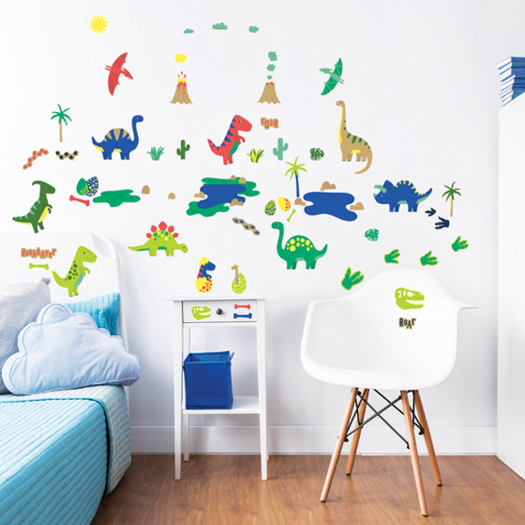Dinosaur wall stickers 45026 walltastic wall stickers for Dinosaur wall mural uk