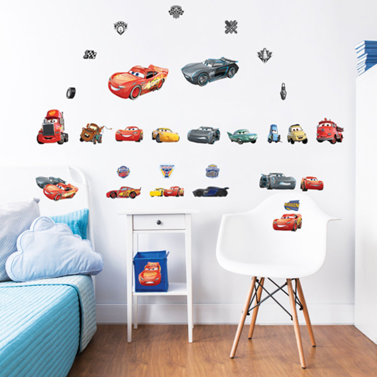 Disney cars 3 wall stickers 44708 walltastic wall for Disney cars large wall mural