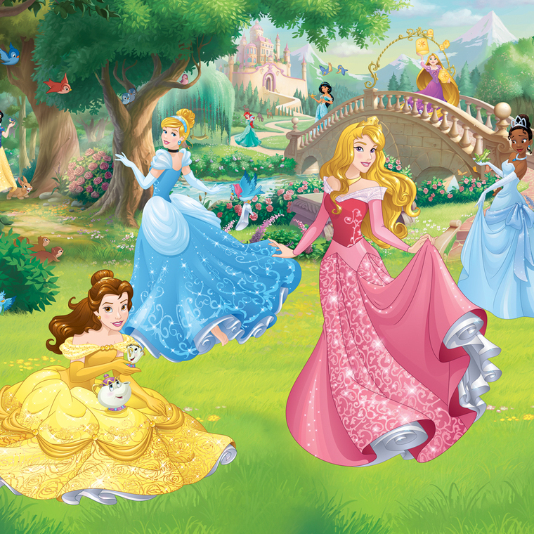 Disney princess mural 438000 walltastic 12 panel murals for Barbie princess giant wall mural