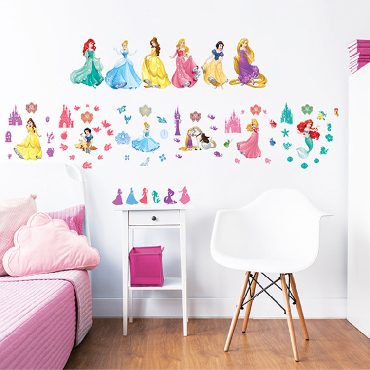Disney princess wall stickers 45101 walltastic wall for Disney princess wall mural stickers