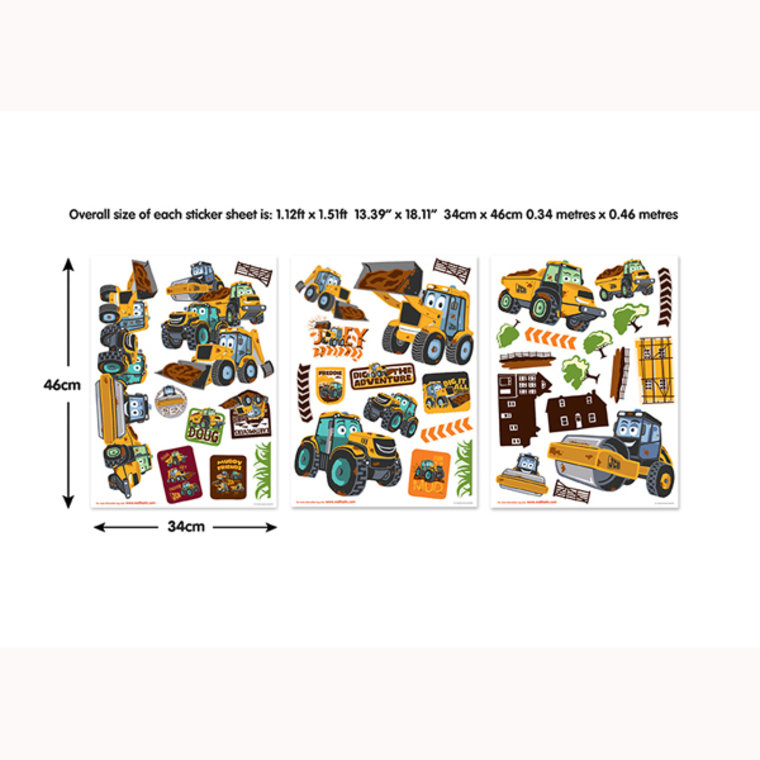 my 1st jcb wall stickers 44722 walltastic select construction digger jcb style childrens nursery wall
