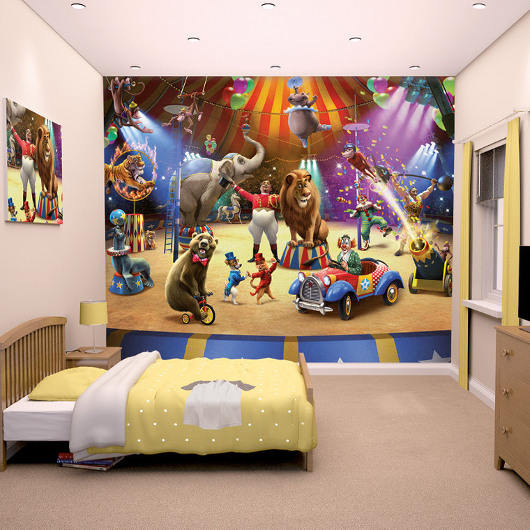 The circus mural 42674 walltastic 12 panel murals for Circus wall mural